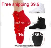 Wholesale Discount High Quality Cheap Canvas Oxford Lace Up Jazz Dance Shoes Sneaker Jazz Dance Boots