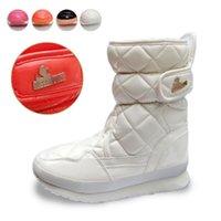 Precio de Botas para la nieve pato mujeres-Clásico patito de Goma de la Marca Cuadrado Puntera Redonda Patente Botas de Invierno, Botas de Nieve,Grils Brillante Femenino Damas de Mujeres#039;s Zapatos