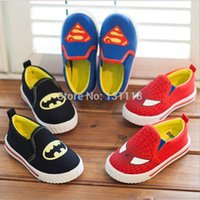 batman shoes for girls - Size children s shoes for boys and girls classic batman superman spiderman kids sneakers fashion child casual shoes A2