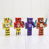 Wholesale 4pcs set FNAF Five Nights At Freddy s Foxy Chica Bonnie bear Building Blocks Figures Toys For Gift