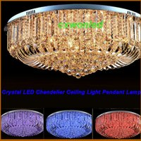 crystal chandelier lighting - Modern Rectangular Crystal Chandelier Dining Room Length Multiple Size LED Cyrstal Pendant Light Ceiling Lamp Chandiliers Lighting DHL ship