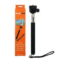Wholesale Telescoping Extendable Pole Handheld Monopod Blue Color with Tripod for Gopro Hero by DHL Free Travel Must