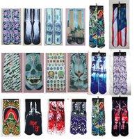 Wholesale FreeDHL d superman socks women men hip hop cotton skateboard printed tiger odd sox socks Unisex stocking hosiery pair E44L