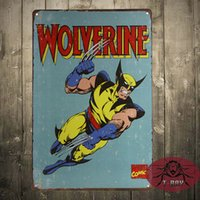 Wholesale Wolverine Retro TIN SIGN veg metal wall decor poster marvel superhero bar C1
