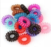 Wholesale 10pcs Telephone Line Gum Elastic Hair Band For Girl Rope Jewelry Accessories Tie Hair Accessory Maker Tools SMT1529
