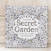 Wholesale 2015 Hot Secret Garden An Inky Treasure Hunt and Coloring Book For Children Adult Relieve Stress Kill Time Graffiti Painting Drawing Book