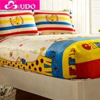 Wholesale You Duo Home Textile Flannel Cartoon Mattress Cover Waterproof Mattress Protector Couvre Matelas Full Queen Size QM005