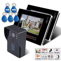 Wholesale 9 Inch V2 Home Security Full touch Screen Color TFT LCD Video Door Phone ID card intercom system DoorBell