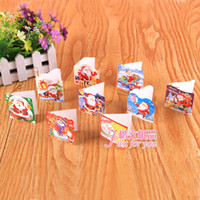 Wholesale Mini cartoon Santa Claus Christmas greeting cards post cards per set designs mixed