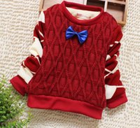 Wholesale Baby warm boys sweater new add fluffy coat D5037 children new boutique children with thick sweaters for men and women sweater