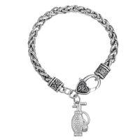 antique golf bags - Vogue Crystal Golf Bag Sport Zinc Alloy Antique Silver Plated Charm Pendant Bracelets For DIY Jewelry BA122888