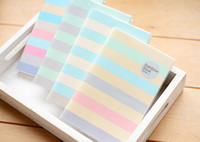 Wholesale 2016 Notes Notepads New paper Rainbow pouches diary book Notepad note book Fashion Gift
