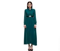 Wholesale Cheongsam Vestido - Vestido De Festa 2016 Spring New Arrival ultra-retro dress cheongsam collar Slim long sleeve dress dark green jumpsuit WQW010