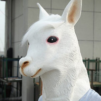 alpaca products - latex alpaca mask jabbawockeez halloween mask white masquerade masks horse party supplies festival products christmas masks