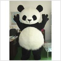Mascot Costumes bear wedding dress - New Wedding Panda Bear Monster Mascot Costume Fancy Dress Adult Size