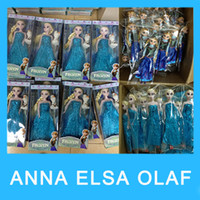 Wholesale 2015 Hote Frozen Anna Elsa olaf Toys Princess dolls Inch Princess Dolls Action Figure Toys Classic Play for kids Girls Birthday christmas