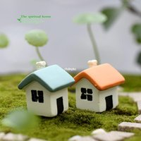 b moss - mini microlandschaft cute craft Succulents moss micro landscape ornaments doll ornaments jewelry two color small houses B se
