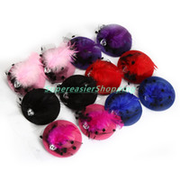 Wholesale 12Pcs Mini Hair Cap Clip Stylish Feather Hair Hat Clip Headwear Heart Shaped Crystal Gauze Top Cap Lace Fascinator Costume Accessory