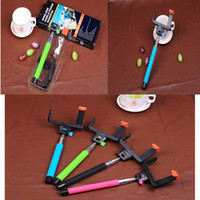 Wholesale 2015 Hot Sale Z07 Wireless Bluetooth Selfie Stick Portable Telescopic Extendable Monopod Self timer for iPhone Android Samsung