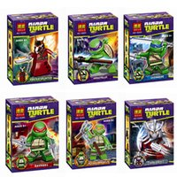 Wholesale Genuine children toy building blocks puzzle assembling new toys Mirage Ninja Turtles series