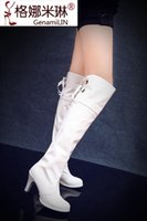 Cheap Wedding shoes boots steel pipe dance boots small yards shoes 30 - 33 plus size boots 40 - 43 44 45 46 47 48 free shipping