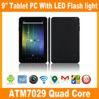 Wholesale 9 quot inch ATM Quad Core tablet dual camera HDMI with flash light Big battery mah Android JBD