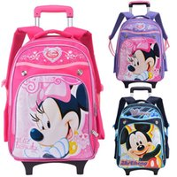 bag trolley price - Freedom factory outlets Mickey Minnie rivets trolley bags latest hot models magic price