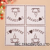 Wholesale quot I love Coffee quot quot cmLunch Napkins Food grade Material Paper Tissue Party Supplies Coffee Shop