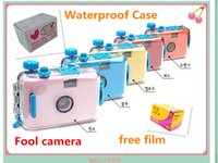 Wholesale South Korea s authentic Lovely waterproof Film Cameras Fool camera underwater camera with free pc film and waterproof case for Film Camera