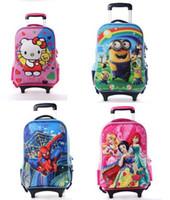 2015 Sacs nouvelle enfants Minions 3D Sacs GirlsBoys Trolley école bagages Voyage Classic Cartoon valise à roulettes pour enfants roulants Sacs