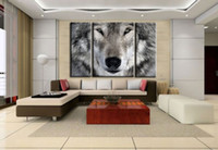 Wholesale HD Canvas Print home decor wall art painting Picture NO stretch Cute wolf