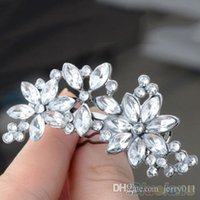 Wholesale Women s Bride s Bridesmaid s Rhinestone Flower Crystal Hair Clip Comb Jewelry PYU