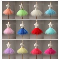 Wholesale 2016 Factory cm Princess Skirt Adult Tutu Tulle Skater Skirts Party Ball Gowns Bridesmaid Dress