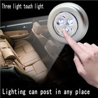 Wholesale 3led led Touch Light For Car Trunk Led lamp High Brightness Stick Touch Night Lamp Emergency Lamp Good Reading Light