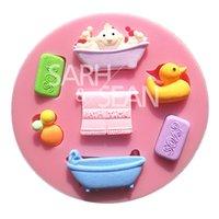 bathtub molds - M0737 baby bathing goods bathtub SOAP fondant cake molds chocolate mould for the kitchen baking Sugarcraft Decoration Tool