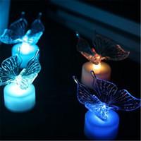 al por mayor noche de mariposa-7 colores cambiando la luz LED de la luz de la mariposa LED de la noche de la lámpara Libélula de la noche de la lámpara de la iluminación de Navidad Luces de Navidad Decoración Noche