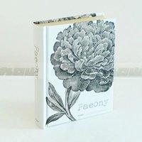 Wholesale Original hardcover kraft paper notebook peony Creative notebook P Gift notebook
