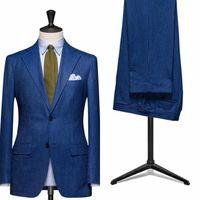 new design pants - New Design Groomsman Custom Men s Formal Suits Blue Best Man Tuxedo for Wedding Groom Wear Pinstripe Jacket Pants