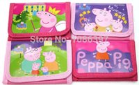 Wholesale Hot Sell Peppa Pig Wallets cartoon Coin Purse for coins Kids purse Party Gift