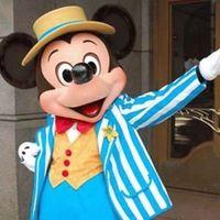 Nuevo traje adulto de lujo de la mascota del tamaño de Mickey Mouse azul Cosctume Día de San Valentín Día de Acción de Gracias Navidad Víspera de Todos los Santos
