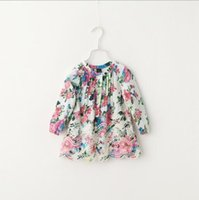 baby girl blouses - Baby Girls Print Vintage Floral Shirts Kids Girls Cotton Hallow Out Jumper Blouse Babies Fashion Ruffle Tops Kids Clothing