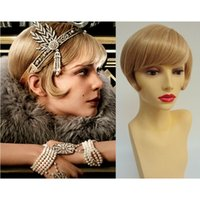 Wholesale 1920 s The Great Gasby Flapper Daisy Wigs Bobo Stylish Short Straight Bang Cosplay Party Wigs Women Fashion Wig