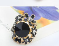 Wholesale 2015 new sale fashion western fashioin women Jewelry rhinestone alloy gemstone flower jewelry necklace diamond ring