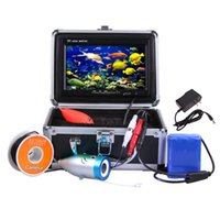 Wholesale 7 quot TFT LCD Monitor Portable TVL Underwater Fishing Camera Night Vision Fish Finder DVR Video M Cable Fishing Finder