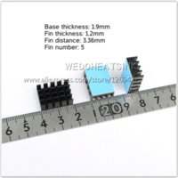 asic chip - x14x7mm Aluminum Graphic Card Heat Sink Black Anodize Radiator With Blue Thermal Pad For IC Chip Asic