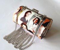 beauty fashion magazine - Evening bag sealed drums representing clutch beauty magazine bag party handbag dress bag shoulder bag with chain
