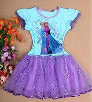 Wholesale Hot sale Frozen Dress Elsa Anna Summer Dress baby Girl New Princess Dresses Brand Girls Dress Children Clothing for baby