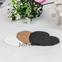 Wholesale 50x Sweet Heart Design Kraft Paper Wedding Bookmark Scallop Blank Lage Tags
