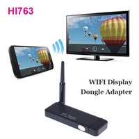 Wholesale HI763 WIFI Display Dongle Adapter Miracast Wireless Airplay DLNA P HDMI For for Android Smartphone Tablet iPhone iPad Newest