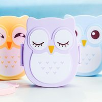 Wholesale Fun Life Bento box Cartoon cute owl Bento Lunch meal box tableware Easy Open microwave oven lunchbox TY785